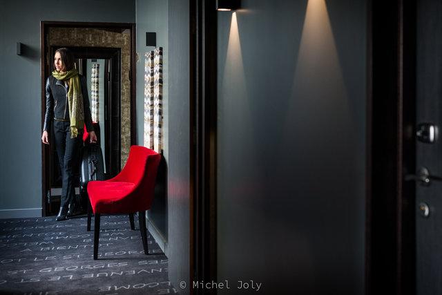 """Issue d'une série pour l'hôtel """"le St Georges"""" avec Amélie pour modèle"""