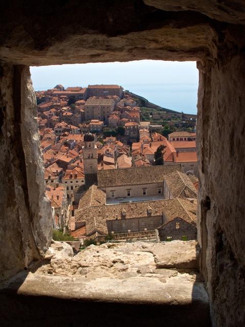 Vista do Grad da Muralha de Dubrovnik