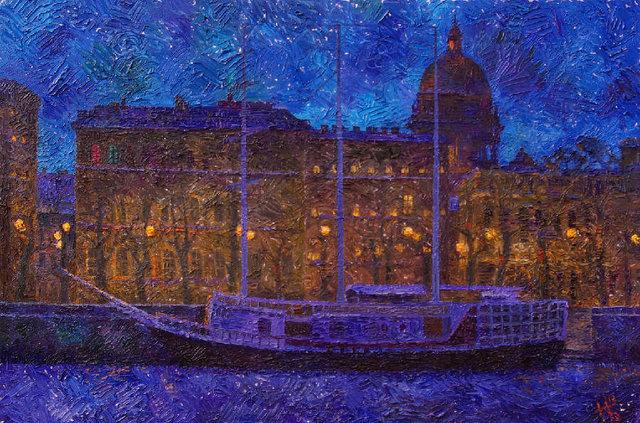 Noc w Petersburgu 60x90 olej płótno 2012