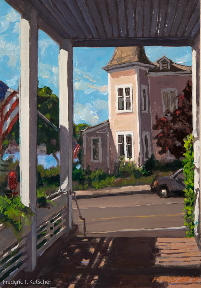 2009-7 Mason's Lodge Porch_ July Fourth (Burton_ WA) (9.75W  14H oil on board) large.jpg