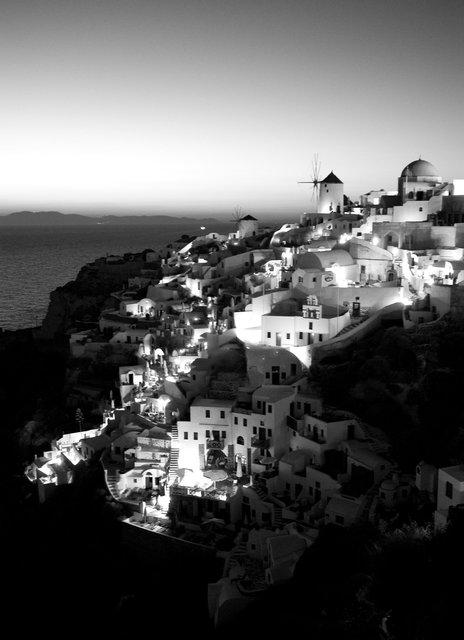 Dusk Oia Santorini