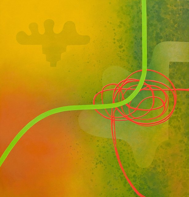 ' Green Trajectory'- 115X110cm - Oil on canvas - Don Eachells.jpg