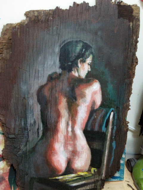 Nude on Plywood