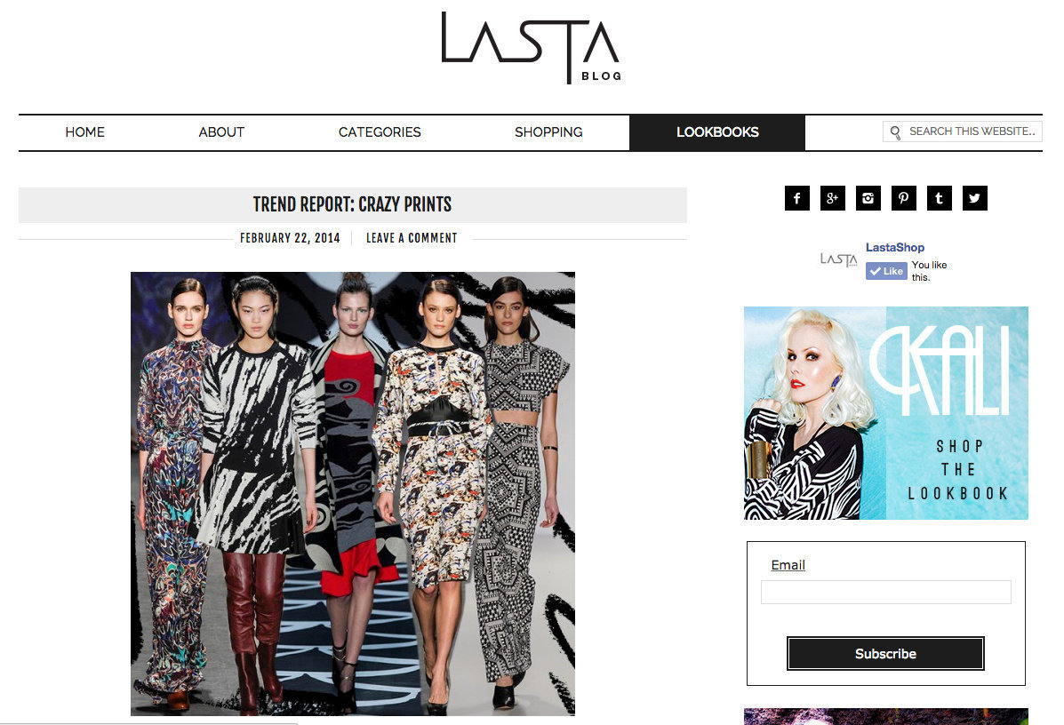 LASTASHOP BLOG- Runway Report