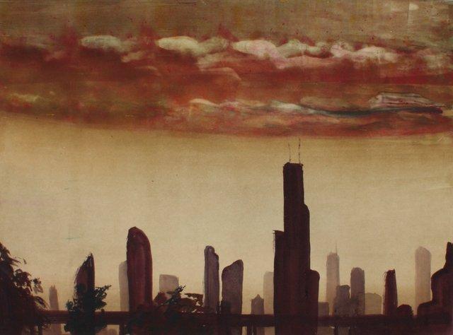 """Chicago Skyline    20 x 24"""""""