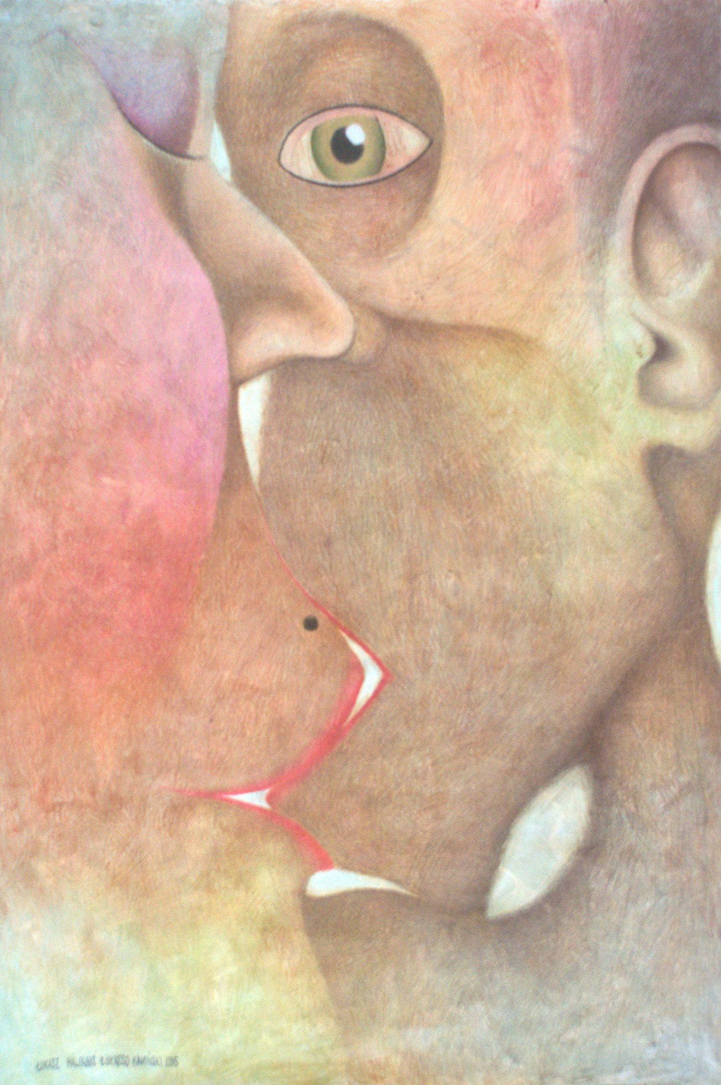 Pocałunek 7 50x70 tech. mieszana papier (wł. pryw.)