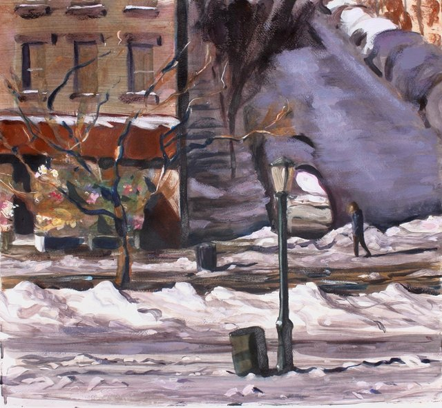 Sunset Park Winter   22 x 30""