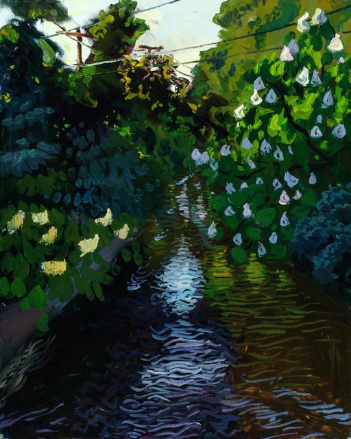 "Cascadilla Creek- Spring, 30 x 24"""
