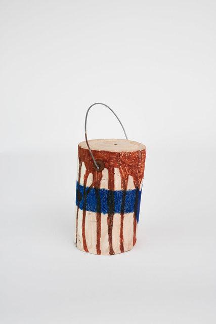 Pot de peinture, bandeau bleu (face) - Collège Politzer