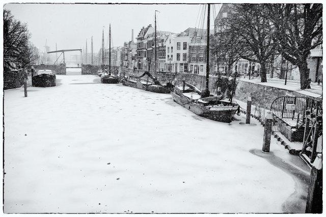 Delfshaven, Rotterdam in winter