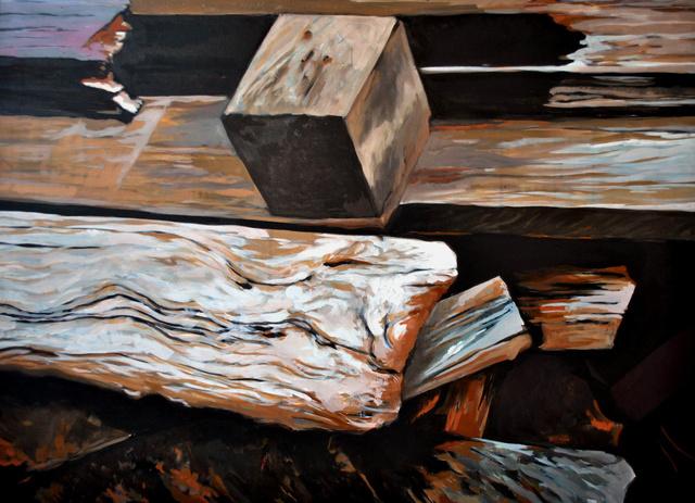 Deski U4, akryl, płótno, 80x60
