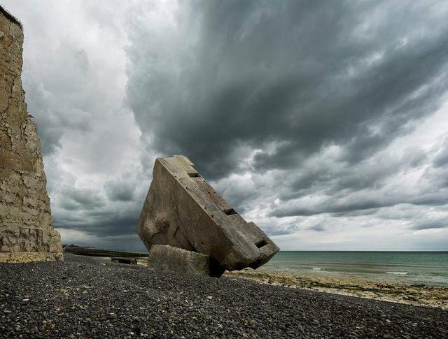 Blockhaus, plage de Sainte-Marguerite-sur-Mer, Normandie.
