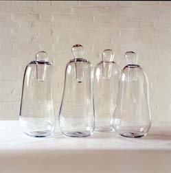 Four Glass Vases