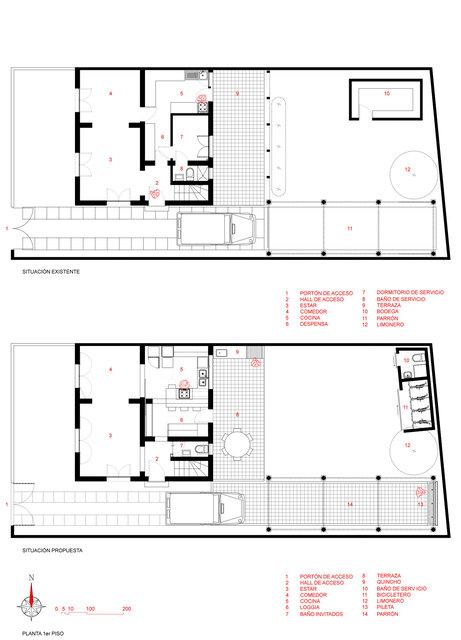 GM_18_plantas 1er piso - sit. exist. - sit. prop..jpg