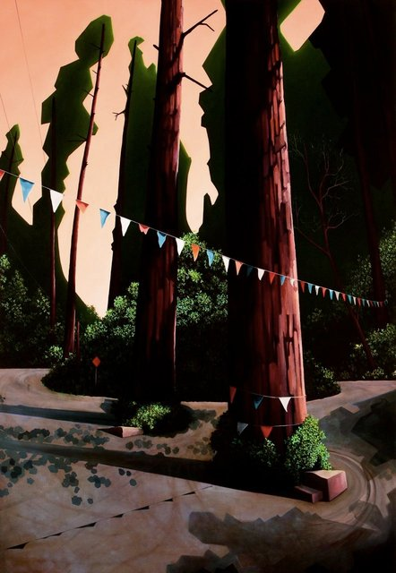 Redwoods, 2010, oil on canvas , 60 x 90""