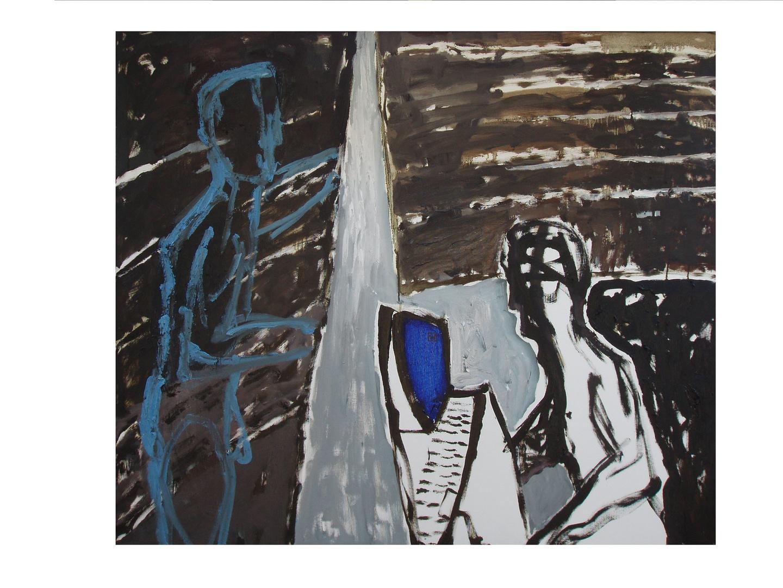 """""""Tarwater"""", olej na płótnie, 120 x 140"""