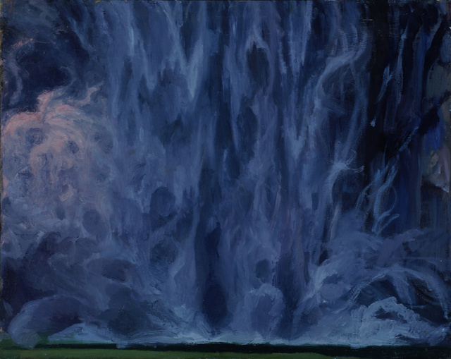 "Taughannock Mist, 34 x 40"""