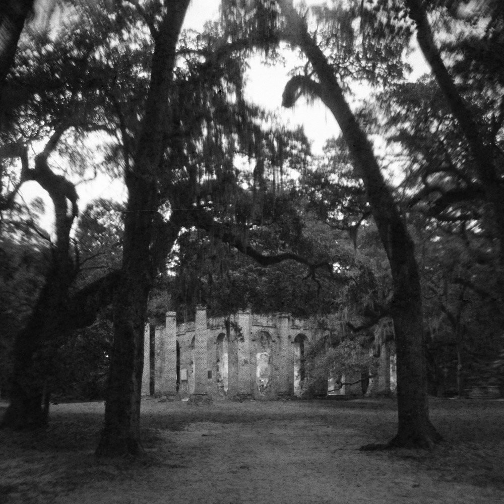 Sheldon Church ruins, South Carolina USA