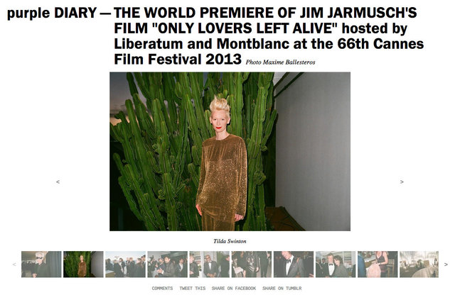 purple DIARY   THE WORLD PREMIERE OF JIM JARMUSCH S FILM  ONLY LOVERS LEFT ALIVE  hosted by Liberatu