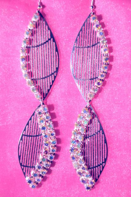 DOUBLE EYE silver earrings worn by ALI ROGERS-MISS SOUTH CAROLINA.