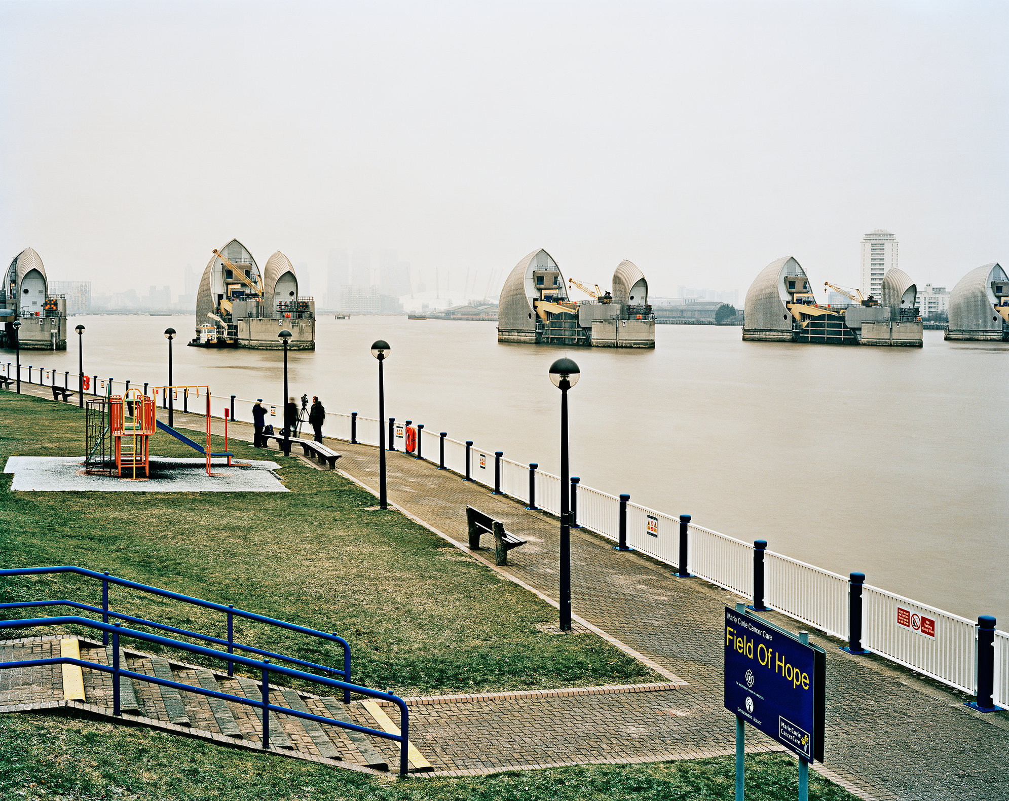 The Thames Barrier, London.