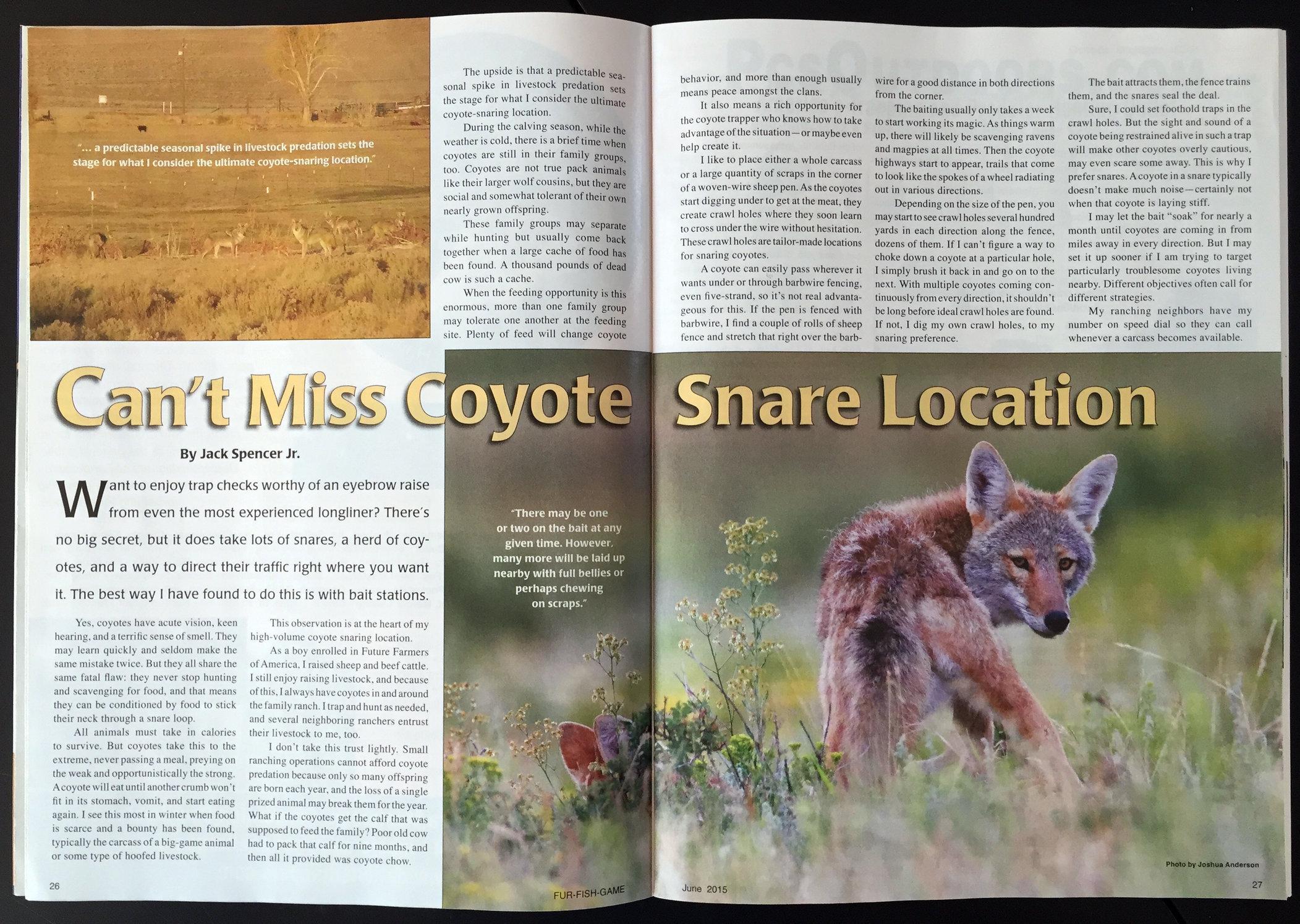 Fur-Fish-Game Magazine (inside); © June 2015
