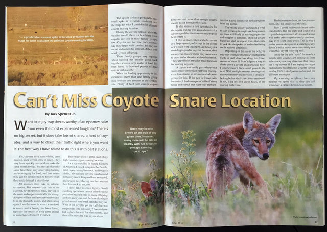 Fur-Fish-Game Magazine (inside); © June 2015