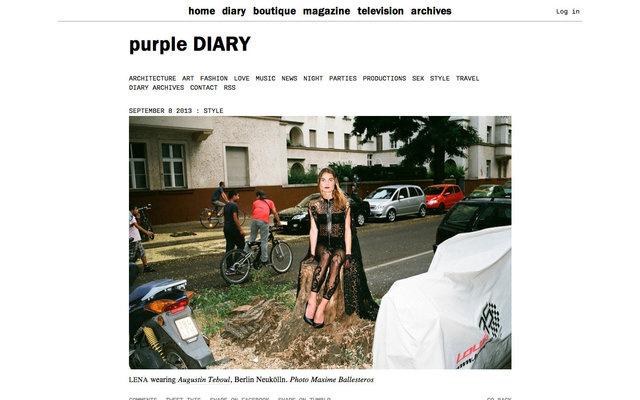 purple DIARY   Lena wearing Augustin Teboul  Berlin Neuk ouml lln. Photo Maxime.jpg