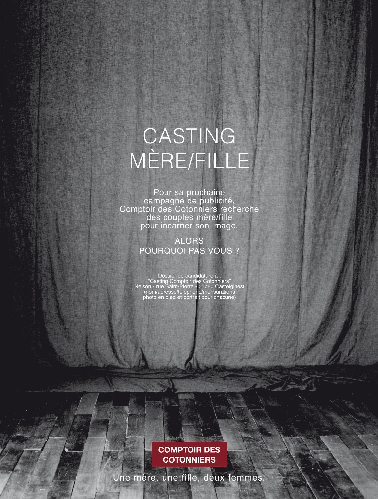 """<font color=""""#aaa7a6"""">Annonce casting.</font>"""
