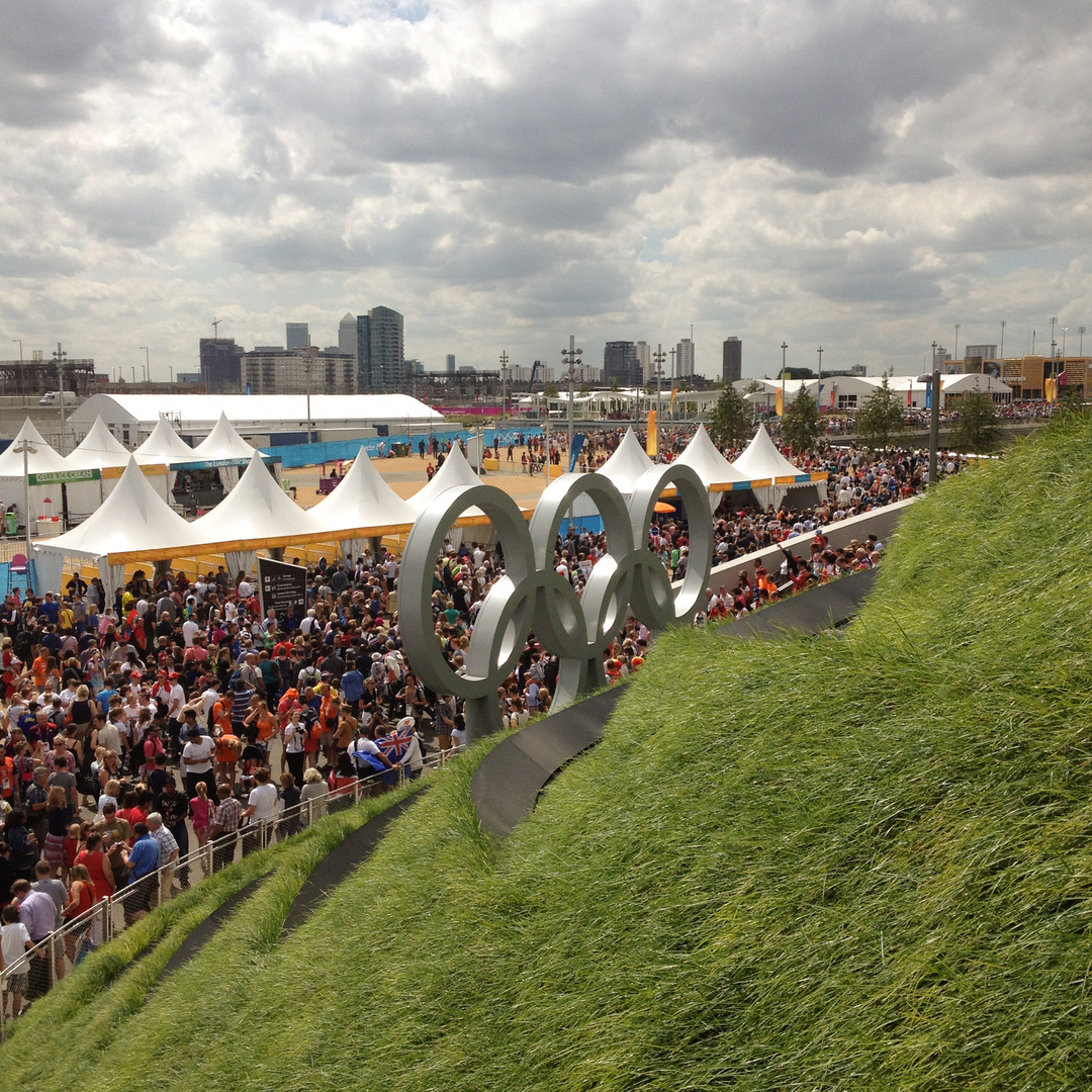 First day of the Olympics, Olympic Park, 2012