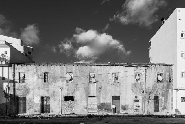 Arrière d'un immeuble au centre-ville d'el Kef, 2014.