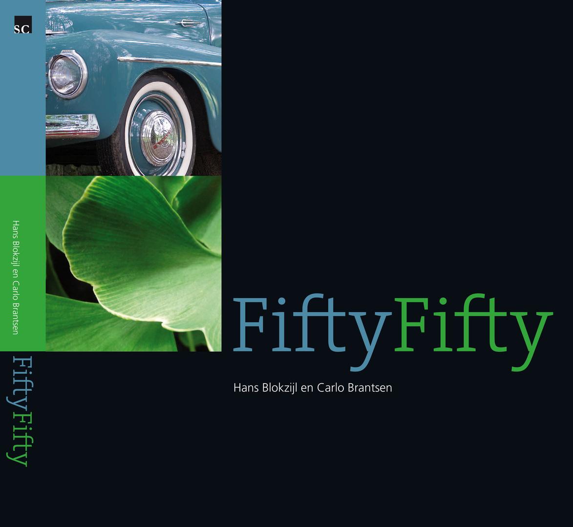 Cover fotoboek FiftyFifty van Hans Blokzijl