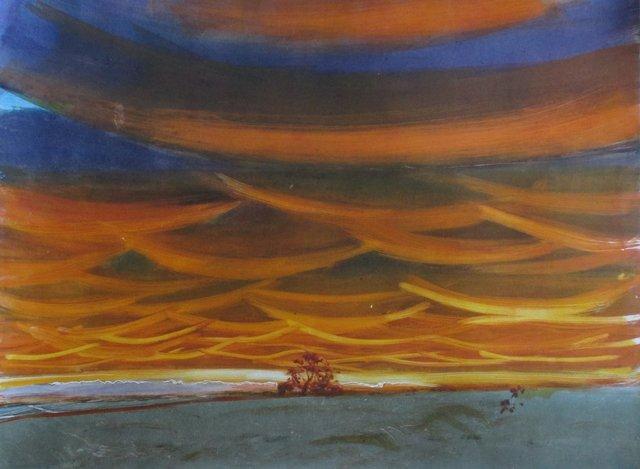 """Illinois Sunset- Yellow   22 x 29"""""""
