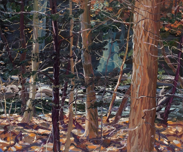 Six-Mile Creek, Ithaca, NY, 36 x 40""