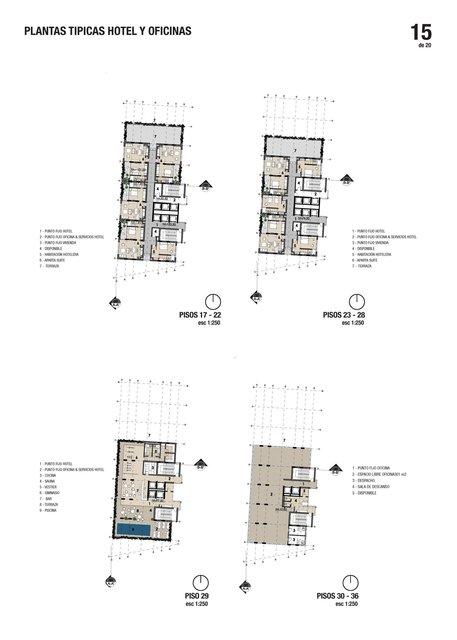 Planta de apartamentos / Apartaments plan