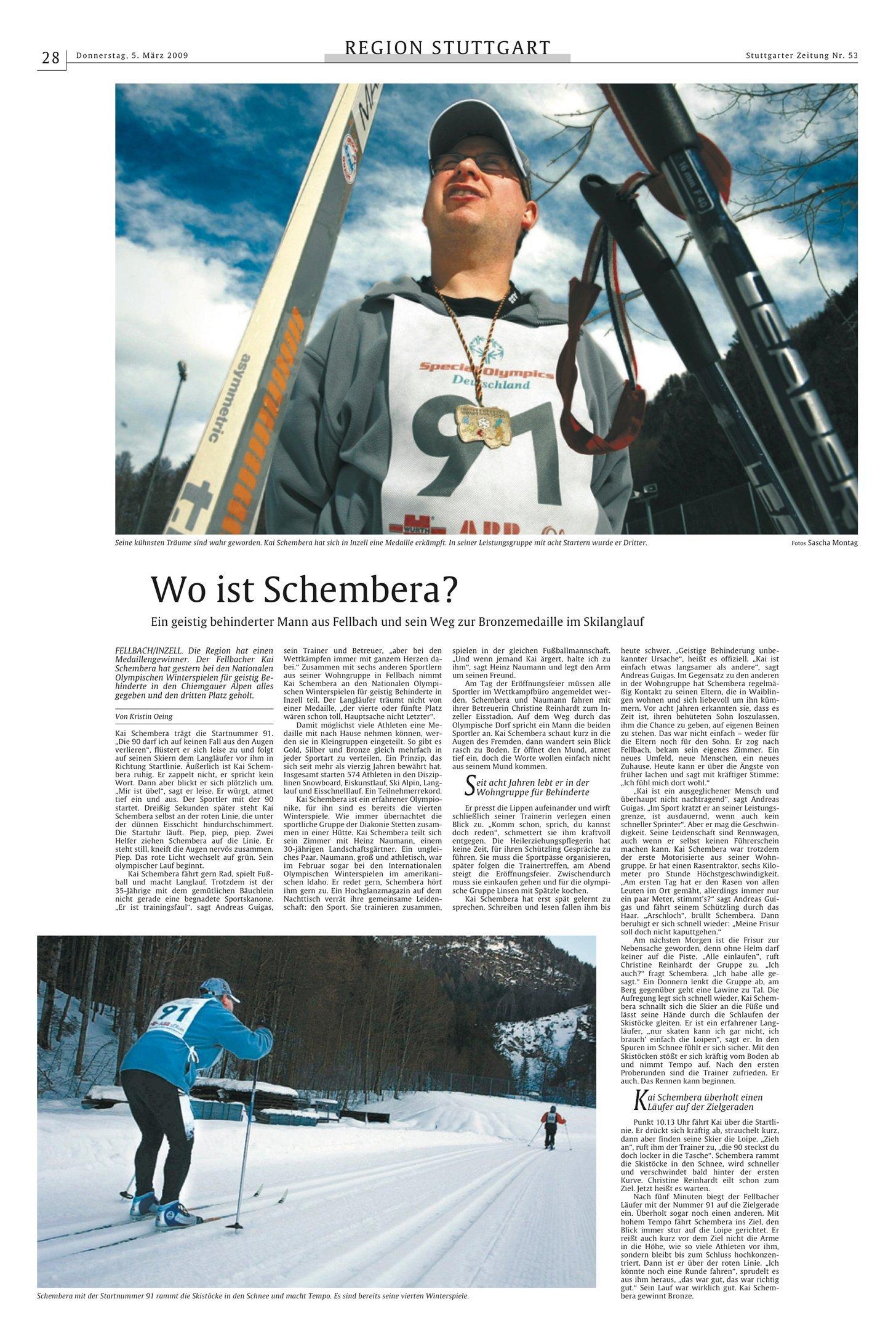 Stuttgarter Zeitung 05.03.2009