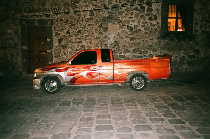 pimped pick up in a small street- san miguel.jpg