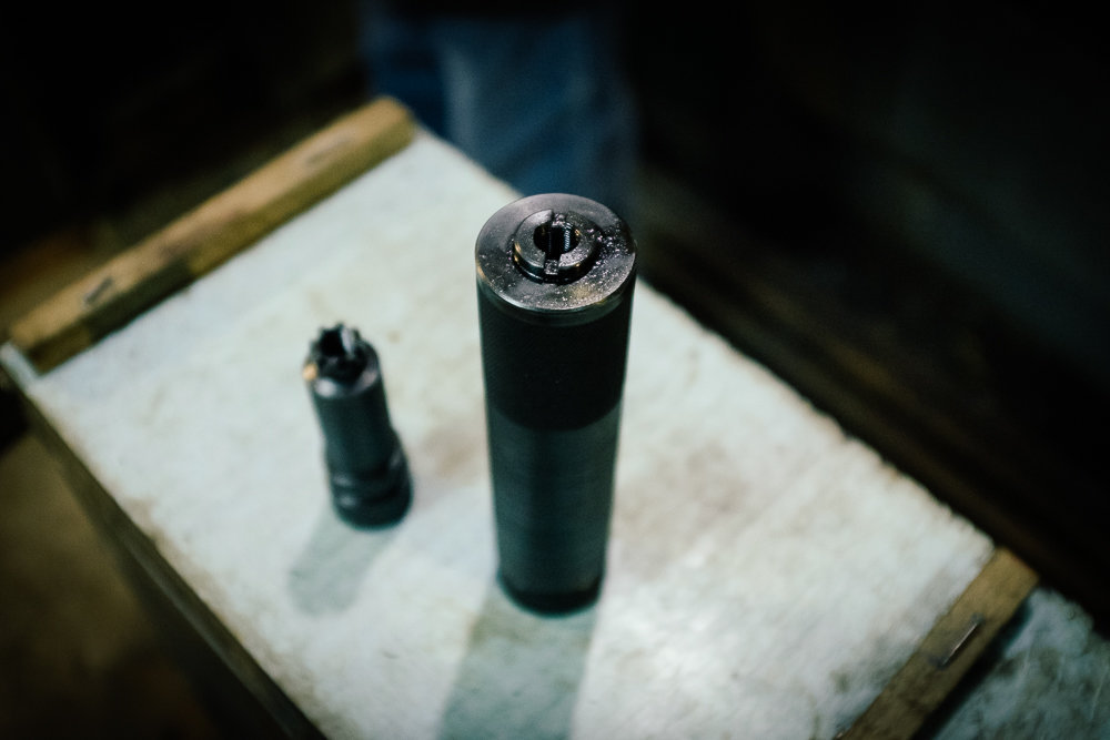 Silencer and flash suppressor for AK47.