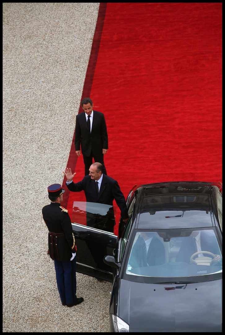 Nicolas Sarkozy et Jacques Chirac