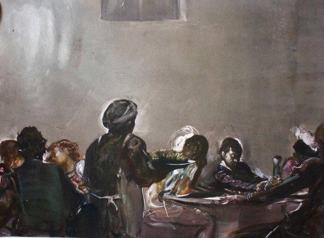 """Caravaggio in a Tavern   22 x 30"""""""
