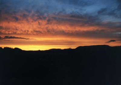Mountains Sunset 3 by Alison Gracie