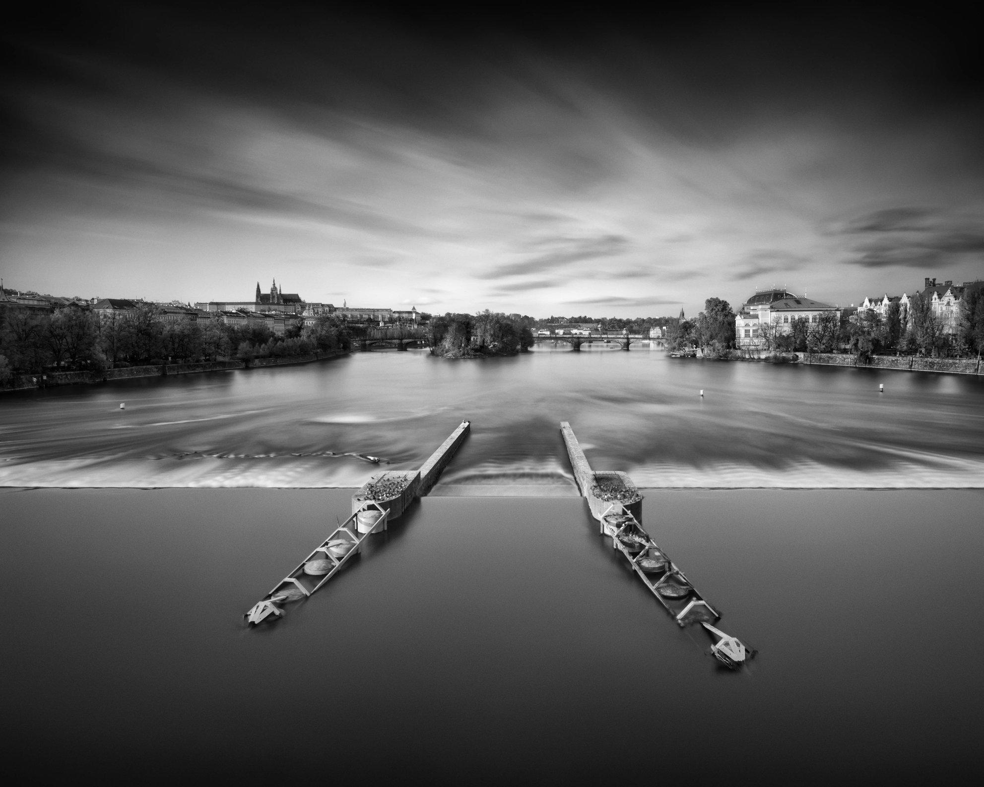 View from Jiraskuv Bridge, Prague