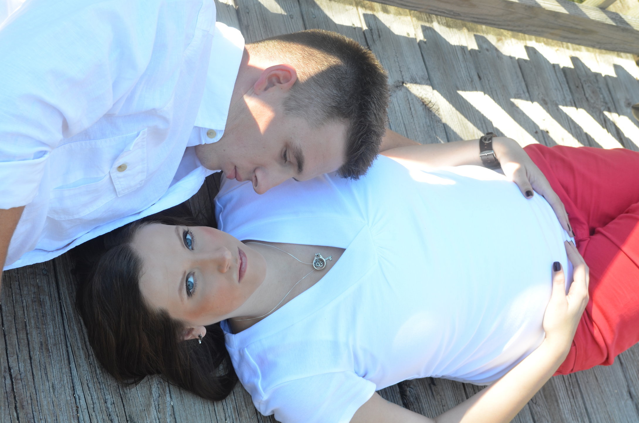 COUPLE- JOSH and TIFFANY is with child due soon.