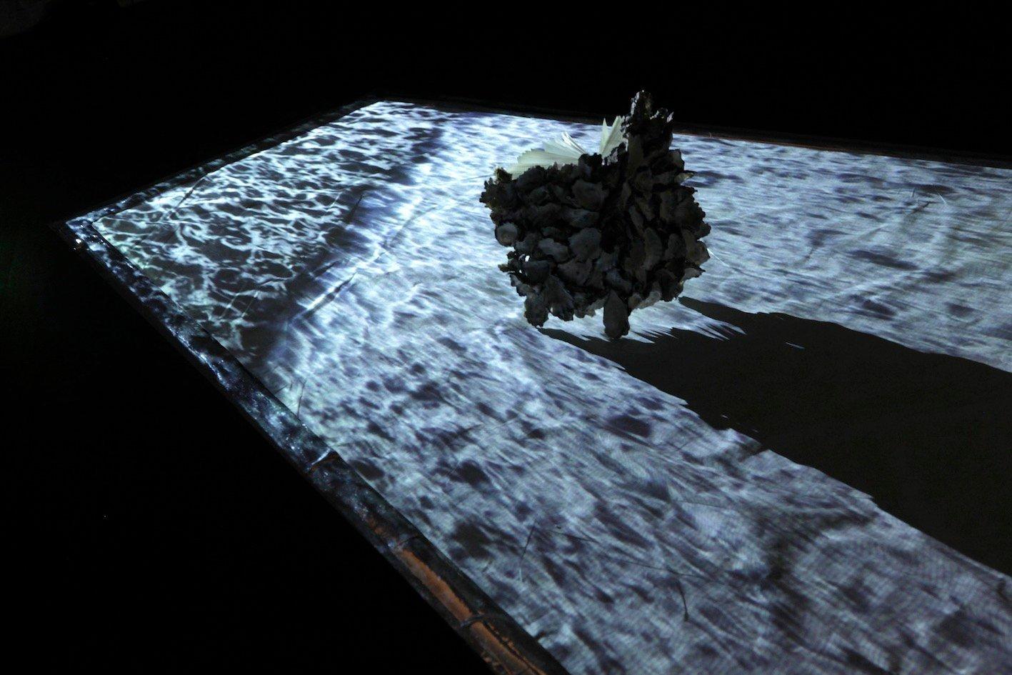 Jenny Pollak - The Immortals - installation detail (video still with sculptural element) .jpg