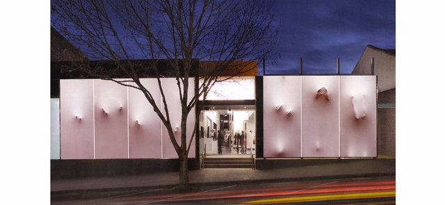 Threshold. Winner of the facade project, Bendigo 2011.jpg