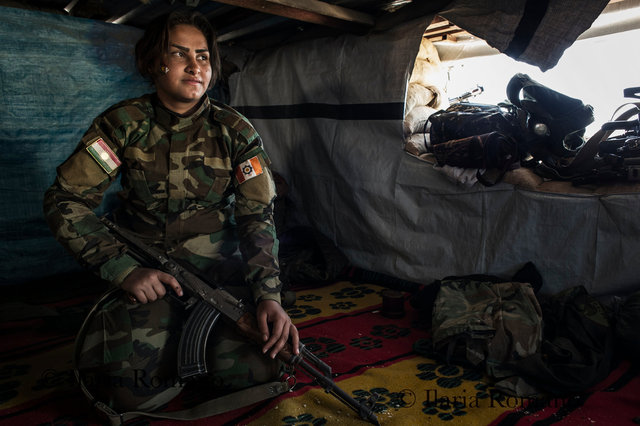 Parti Azadi Kurdistan soldier, Bashiqa Mountain, Iraqi Kurdistan 2016