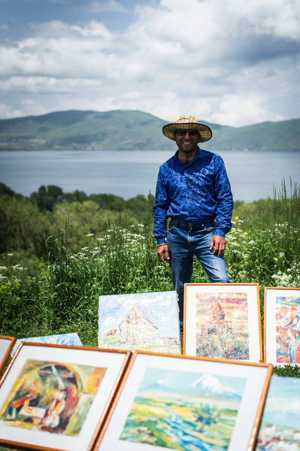 Peddler, Sevan Lake, Armenia 2016