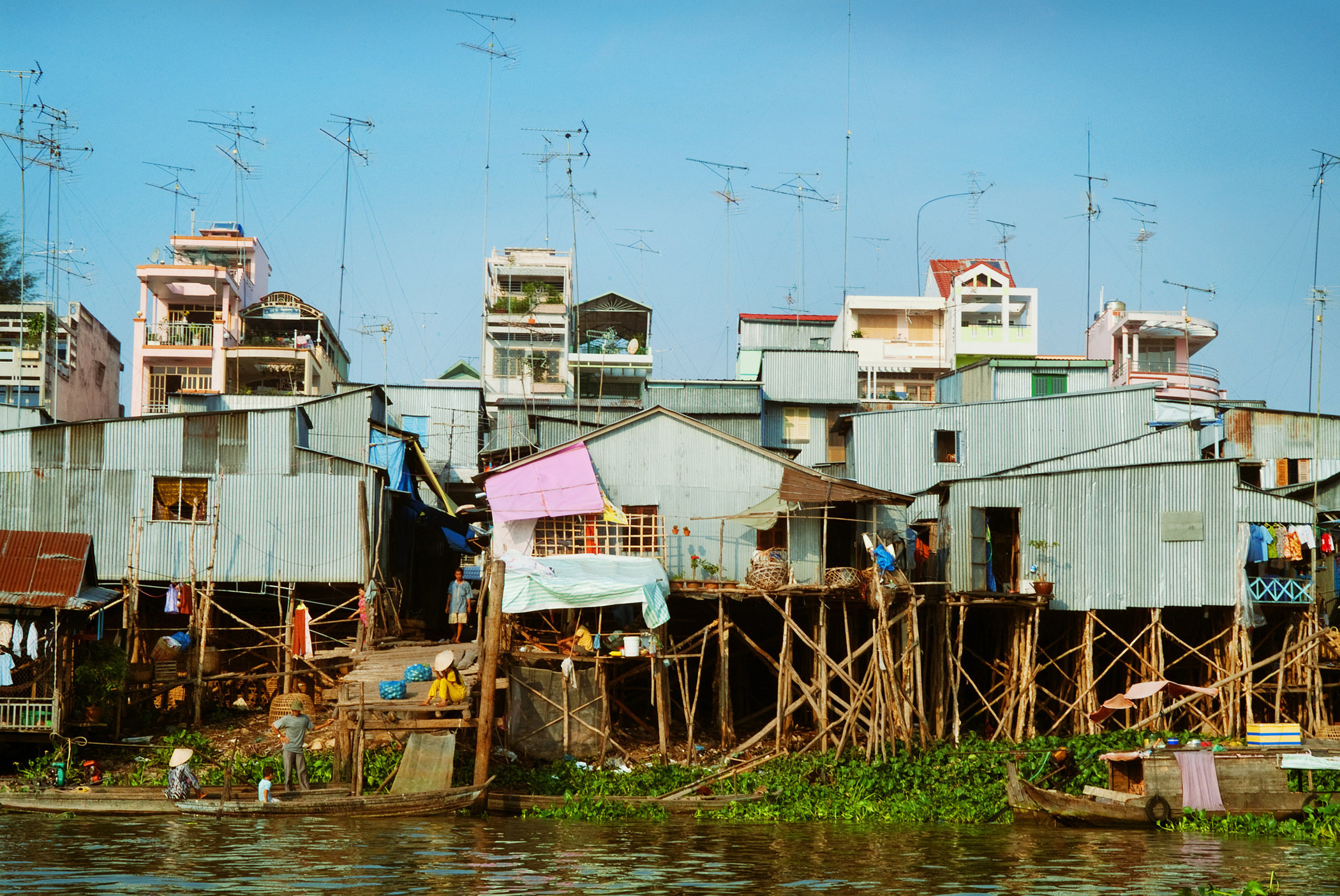 Stilt Houses on the Mekong