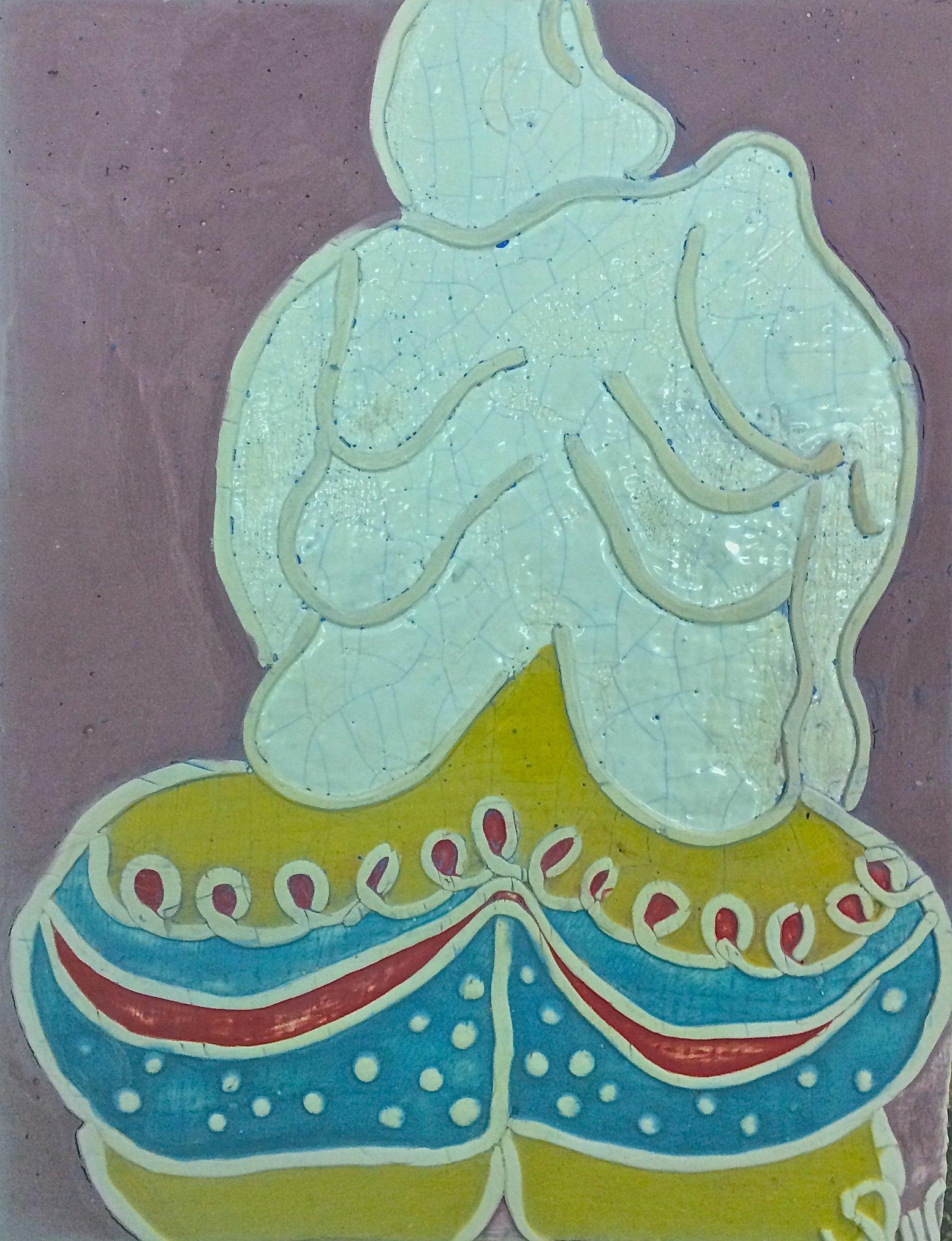 """z cyklu """"Baba"""" 8, 17x22 ceramika"""