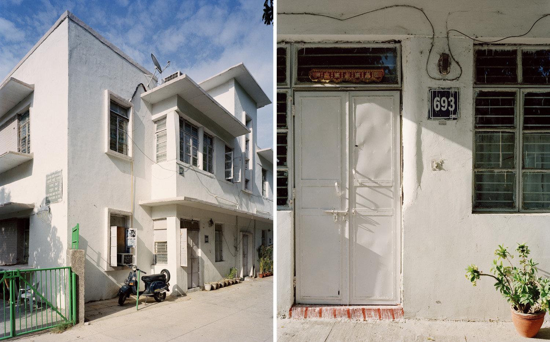 (L) Type 4, Laxmibai Nagar.   (R) door detail, Laxmibai Nagar.